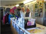 View larger image of 2 staff members in gift shop at POMO RV PARK  CAMPGROUND image #1