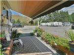 View larger image of View of the park from under an RV awning at MAJESTIC RV PARK image #6