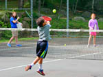 View larger image of Kids playing tennis at PINE ACRES FAMILY CAMPING RESORT image #12