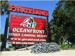 View larger image of Sign at entrance to RV park at PIRATELAND FAMILY CAMPING RESORT image #1