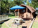 View larger image of Log cabin with deck at MUSICLAND KAMPGROUND image #8