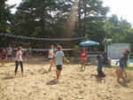 View larger image of Campers playing volleyball at BUFFALO LAKE CAMPING RESORT image #3