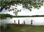 View larger image of Kids fishing at BLACKHAWK CAMPING RESORT image #6