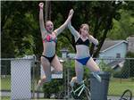 View larger image of Girls swimming at FOUR SEASONS CAMPGROUNDS image #7