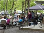 View larger image of Patio area with picnic tables at FOUR SEASONS CAMPGROUNDS image #9