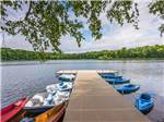 View larger image of Kayaks and paddle boats docked at PLYMOUTH ROCK CAMPING RESORT image #9