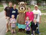 View larger image of Cindy bear with kids at JELLYSTONE PARK WARRENS image #11