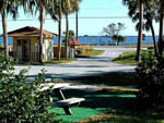 View larger image of Picnic table with ocean view at CAMELOT RV PARK image #3