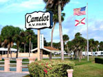 View larger image of Sign at entrance to RV park at CAMELOT RV PARK image #7