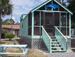View larger image of Cabin with deck at NAVARRE BEACH CAMPING RESORT image #4