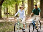 View larger image of Couple biking at NEWPORT NEWS PARK CAMPGROUND image #7
