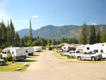 View larger image of A row of RV sites full of RVs at FAIRMONT HOT SPRINGS RESORT image #4