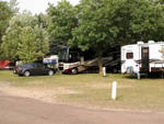 View larger image of RVs and trailers at campgrounds at LAKESIDE CAMP PARK image #6