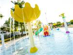 View larger image of A blue twisty water slide at BISSELLS HIDEAWAY RESORT image #3