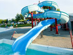 View larger image of Large blue water slide at BISSELLS HIDEAWAY RESORT image #10