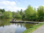 View larger image of Dock on lake at BISSELLS HIDEAWAY RESORT image #11