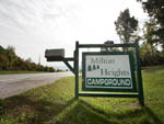View larger image of Sign at entrance to RV park at MILTON HEIGHTS CAMPGROUND image #5