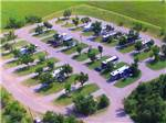 View larger image of An aerial view of the campsites at GUNSMOKE RV PARK image #4