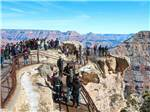 View larger image of People on the overlook area at the Grand Canyon at GRAND CANYON TRAILER VILLAGE RV PARK image #1
