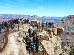 View larger image of The overlook area with people at GRAND CANYON TRAILER VILLAGE RV PARK image #9