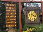 View larger image of Sign at entrance to RV park at BEAR RUN CAMPGROUND image #2