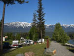 View larger image of RVs in sites next to path along the river at GOLDEN MUNICIPAL CAMPGROUND image #4