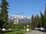 View larger image of Paved road in park with snow cap mountains at GOLDEN MUNICIPAL CAMPGROUND image #6
