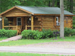 View larger image of Log cabin with deck at HUNGRY HORSE CAMPGROUND image #3