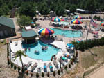 View larger image of Aerial view of pools and water park at EVERGREEN CAMPSITES  RESORT image #3