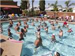View larger image of People swimming in the pool at MESA REGAL RV RESORT image #2