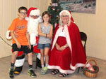 View larger image of Kids with Santa at MOUNTAIN CREEK CAMPGROUND image #6