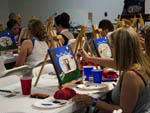 View larger image of A group of people painting at LAZY RIVER AT GRANVILLE CAMPGROUND image #6
