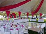 View larger image of The event tent with a dance floor at NEWPORT DUNES WATERFRONT RESORT  MARINA image #12