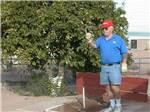 View larger image of Man playing horseshoes at WEAVERS NEEDLE RV RESORT image #10