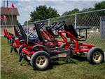 View larger image of Pedal go karts with two seats in the front at WILLOWOOD RV RESORT image #6
