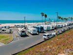 View larger image of RVs and trailers at campground on the ocean at DOCKWEILER RV PARK image #1