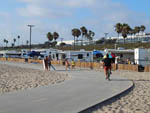 View larger image of Trailers and RVs camping with ocean view at DOCKWEILER RV PARK image #5