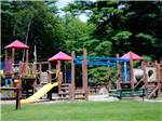 View larger image of Playground with a large swing set at KING PHILLIPS CAMPGROUND image #8