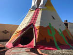 View larger image of A colorful tee pee with a colorful design at SILVER STATE RV PARK image #5