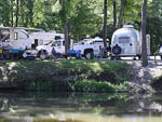 View larger image of Trailers camping on the water at RIVERVIEW RV PARK image #4