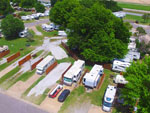 View larger image of Aerial view over campground at MINGO RV PARK image #12