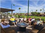 View larger image of Patio area with tables at VALLE DEL ORO RV RESORT image #8
