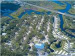 View larger image of Amazing aerial view over resort at BAY BAYOU RV RESORT image #10