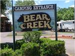 View larger image of Sign at entrance to RV park at ASHEVILLE BEAR CREEK RV PARK image #11