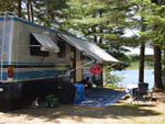 View larger image of RV camping on the water at MOUNTAIN LAKE CAMPING RESORT image #3