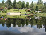 View larger image of Trailer camping on the water at MOUNTAIN LAKE CAMPING RESORT image #5