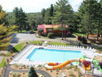 View larger image of Aerial view over waterpark at MOUNTAIN LAKE CAMPING RESORT image #9
