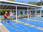 View larger image of Couples playing shuffleboard at TERRA CEIA RV RESORT image #2