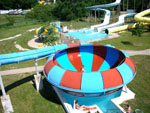 View larger image of Large spiraling water slide at MARK TWAIN LANDING image #2