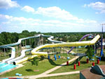 View larger image of Aerial view over waterpark at MARK TWAIN LANDING image #3